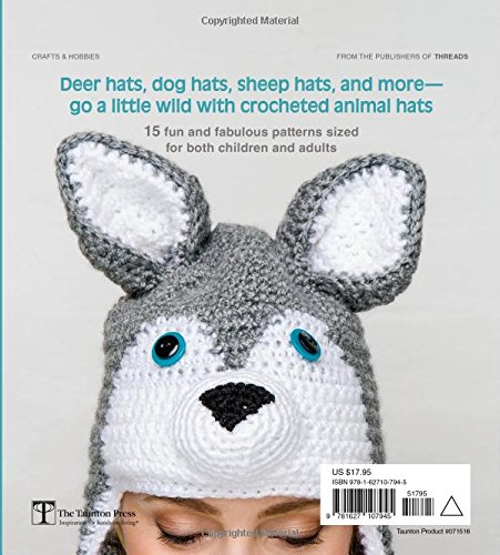 Amazon.com: Crocheted Animal Hats: 15 patterns to hook and show off ...