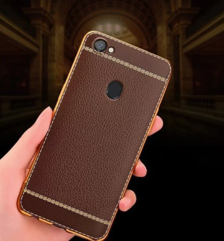san francisco 6b420 ae591 Loxxo Leather Back Cover For Oppo F5 (Brown)