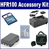 Canon VIXIA HFR100 Camcorder Accessory Kit includes: ZELCKSG Care & Cleaning, KSD2GB Memory Card, SDC-27 Case, SDNB2LH Battery, SDM-118 Charger