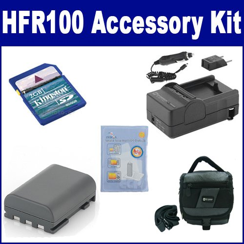 Canon VIXIA HFR100 Camcorder Accessory Kit includes: ZELCKSG Care & Cleaning, KSD2GB Memory Card, SDC-27 Case, SDNB2LH Battery, SDM-118 Charger by Synergy Digital