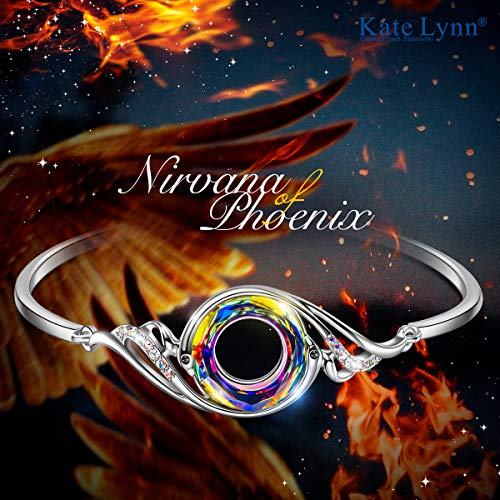 ارخص مكان يبيع Kate Lynn Woman's ❤️Nirvana of Phoenix❤️ Swarovski Crystals Bracelet, Pendant Necklace Chain Length 18.0