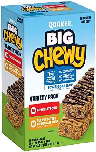 Granola & Protein Bars: Quaker Big Chewy
