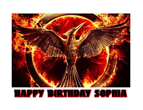 The Hunger Games Mockingjay Katniss Edible Image Photo Sugar Frosting Icing Cake Topper Sheet Personalized Custom Customized Birthday Party - 1/4 Sheet - 76338 -