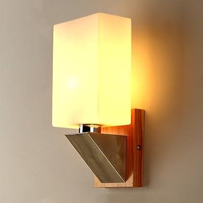 Style Creatif Japonais Lampe Murale En Bois Salon Simple Balcon