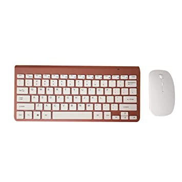 censhaorme Delgado Teclado inalámbrico USB con el ratón Ratones Kit Set para el Ordenador portátil PC de Escritorio del Ordenador Configuración de Teclado: ...