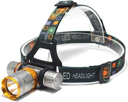 Linterna frontal LED subacuática 3800 lúmenes – T6 faro LED ...