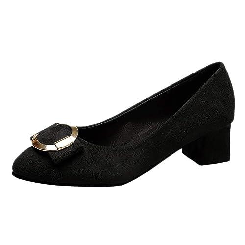 Zapatos Mocasines para Mujer Tacon Medio, Loafer Plataforma Primavera Verano para Oficina y Uso Diario: Amazon.es: Zapatos y complementos