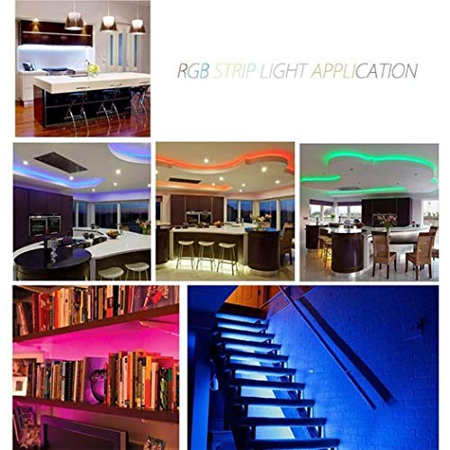 Justew RGB LED Strip Flexible Light 44-Key Infrared Remote Control LED Bulbs
