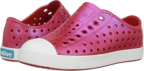 Price comparison product image native Kids' Jefferson Iridescent Child Shoe, Torch Red/Shell White/Galaxy Iridescent,  5 Medium US Toddler
