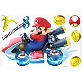 RoomMates RMK3001GM Mario Kart 8 Peel and Stick Giant Wall Decals, 7 Count