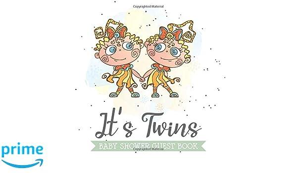 Twins Baby Shower Napkins /& Keepsake Book