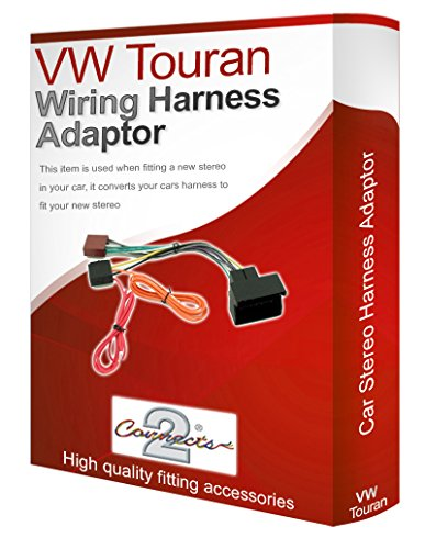 Touran CD radio stereo wiring harness adapter lead loom: Amazon.co.uk: Electronics