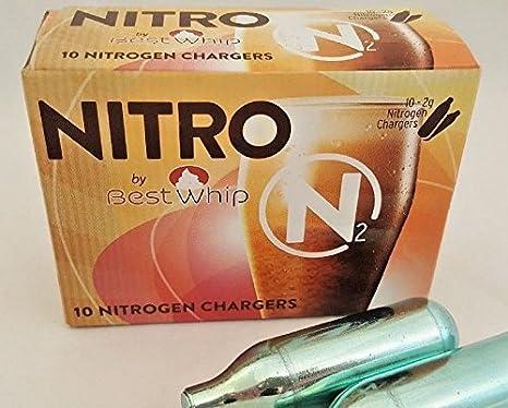 72b01d79c28 Amazon.com  40 N2 cartridge Home Brewing Beer or Nitro Coffee ...