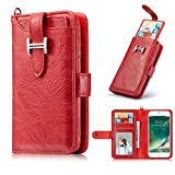 iPhone 8 Plus Case,iPhone 7 Plus Wallet Case,Ayans Premium PU Leather Wallet Case Detachable Back Cover Purse Clutch with Card Holder Wrist Strap for iPhone 7Plus 8Plus 5.5""