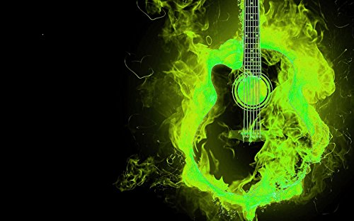 Lienzo andbild S de guitarra Llama Fuego hölle Punk Rock Heavy Metal Pub Bar Cafe Uni Club Hotel lbw0001, lwb0001_minus100, 150x90cm: Amazon.es: Hogar