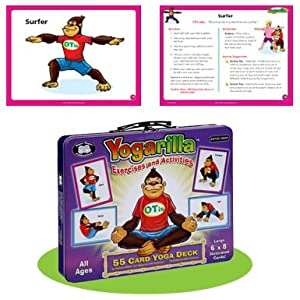 Super Duper Publications | Yogarilla Exercise and Activities Yoga Fun Deck | Occupational Therapy Flash Cards | Core…