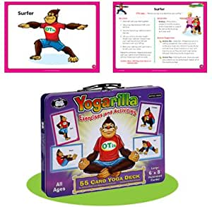 Yogarilla Exercises and Activities - Yoga Flash Card Deck - Super Duper Educational Learning Toy for Kids