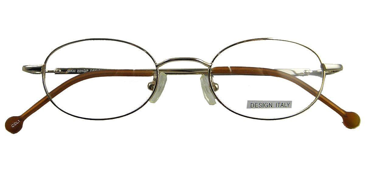 6561a31f44 Amazon.com  Opticaleyeglass Men Women Eyeglass Frames Metal Vintage Round oval  44-19-135 (Teal)  Clothing