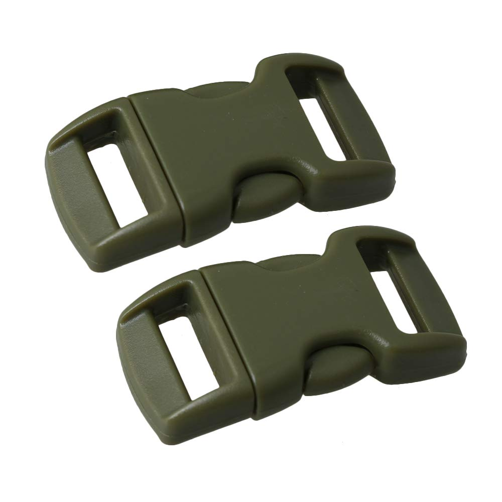 BQLZR Green Quick Side Release Backpack Webbing Strap Slider Buckle Lock for Luggage Handbag Accessories Pack of 20