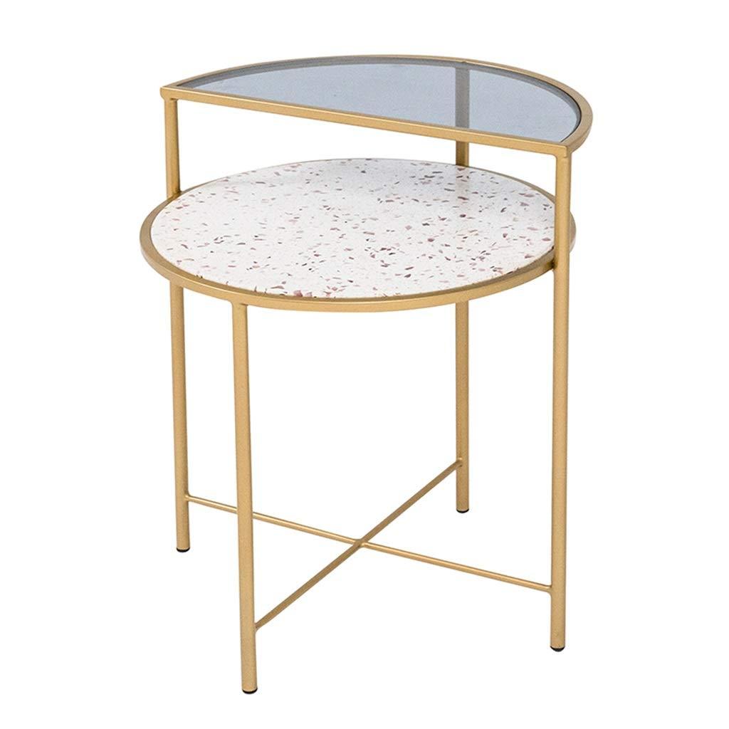 Nachttische Rundleiter Schlafzimmer Nachttischleuchte Storage Storage Tabelle Sofa Wohnzimmer Balkon Side-Maschine (Color : A, Size : 49 * 58cm)