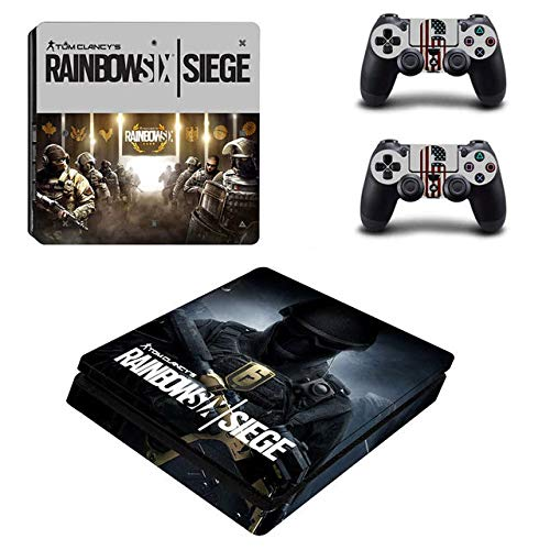 SuperSkin_Store PS4 Slim Whole Body Vinyl Skin Sticker Decal Cover for Playstation 4 System Console and Controllers - Shooter Game (Best Rainbow Six Siege Skins)