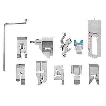 Prensatelas Accesorios para Máquina de coser Matefielduk 11pcs Multifuncional pie prensatelas repuestos Presser Foot Feel Kit Set: Amazon.es: Hogar