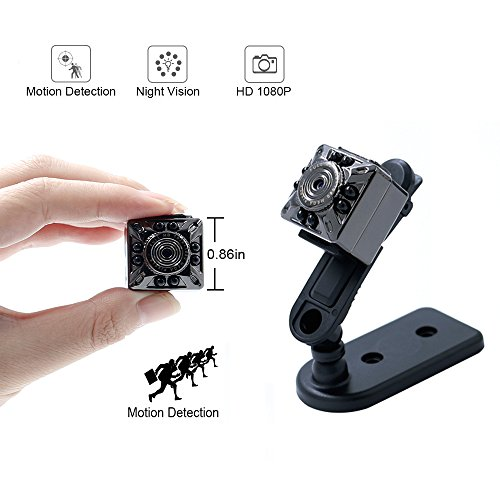 Supers Mini Camera EOVAS 1080P Protable Small Cam Motion Detection Camera with Night Vision for Home / Office Security Camera