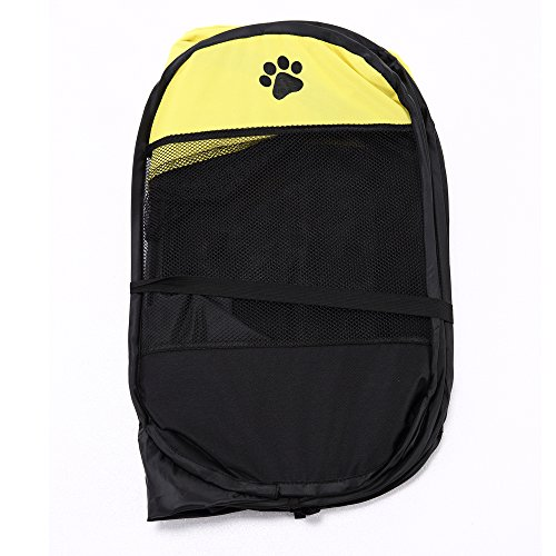 Pet Portable Playpen,Lonni Foldable Pets Fence Octagon 600D Oxford Cloth Tent with Cover Indoor&Outdoor Washable Dog Cage for Cats Puppy Small Dogs Animals by Lonni (Image #4)