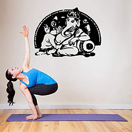 zhuziji Vinilo Adhesivo de Pared Yoga Ganesha Buda hindú ...