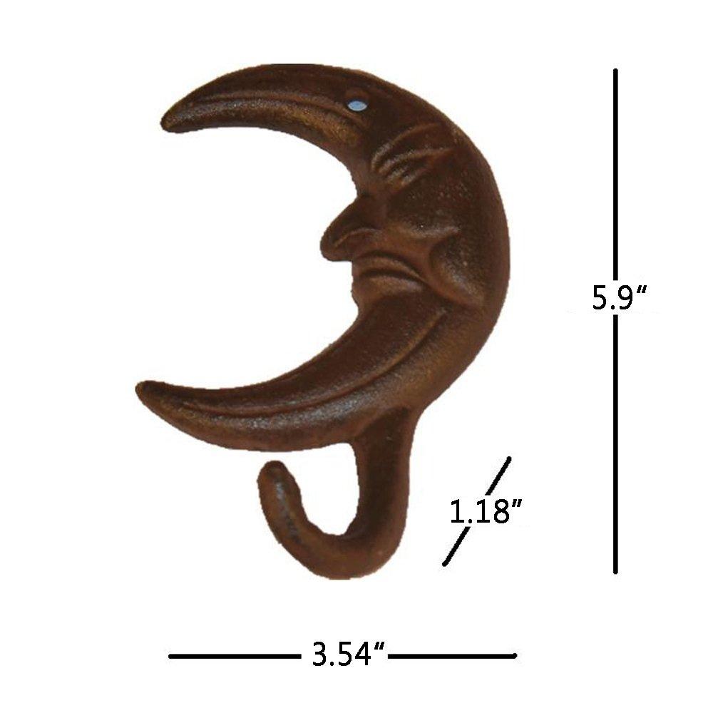 TA003 bestplus hierro fundido gancho de pared luna/sombreros bolsa clave abrigo vintage gancho, hogar decorativo regalo: Amazon.es: Oficina y papelería