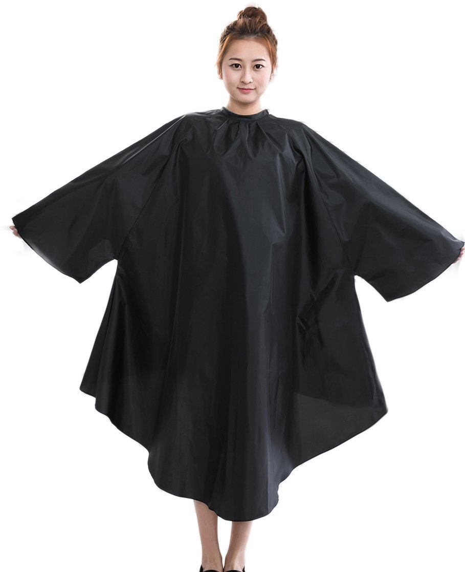 Salon Client Hair Cutting Cape Gown, Professional Barber Haircut Cape with Sleeves by PERFEHAIR