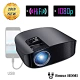 Electronics : Projector Video Movie Home Theater 3500 lumens 1280x800 Native Resolution Support 1080P LED Projector for iPhone Laptop Andriod Smartphone PS4 Xbox TV Box Fire TV WS610 by BeamerKing