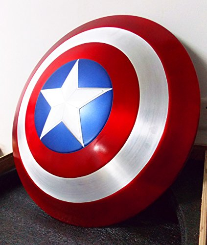 Gmasking Aluminum Alloy Captain America Adult Shield 1:1 Replica+Adjustable Strap
