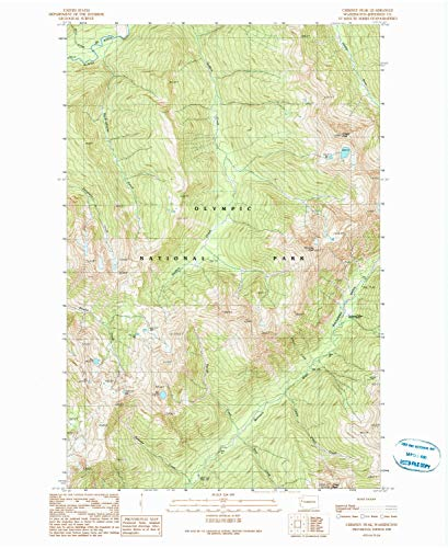 YellowMaps Chimney Peak WA topo map, 1:24000 Scale, 7.5 X 7.5 Minute, Historical, 1990, Updated 1990, 27.1 x 22.2 in - Paper from YellowMaps