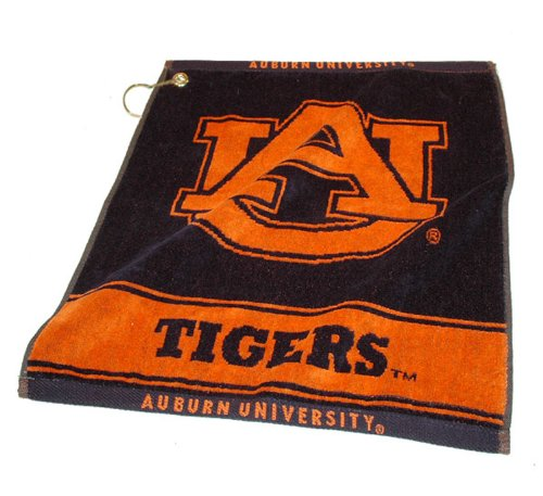 NCAA Auburn University Woven Team Golf - Towel Jacquard Woven Ncaa