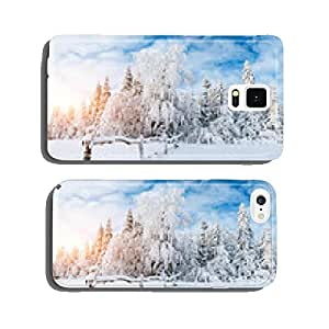 winter landscape trees in frost cell phone cover case Samsung S6