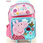 "Peppa Pig 16"" Rolling Backpack"