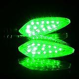 1 pair of Universal LED 12V Waterproof Motorcycle Turn Signal Indicators Lights/lamp,Tuscom (Green) Review