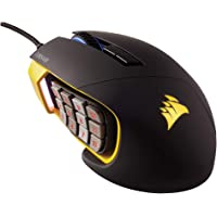 Corsair Scimitar Pro RGB Optical MMO Gaming Mouse (16,000 DPI Optical Sensor, 12 Programmable Side Buttons, 4-Zone RGB Multicolour Lighting, On-board Storage) - Yellow