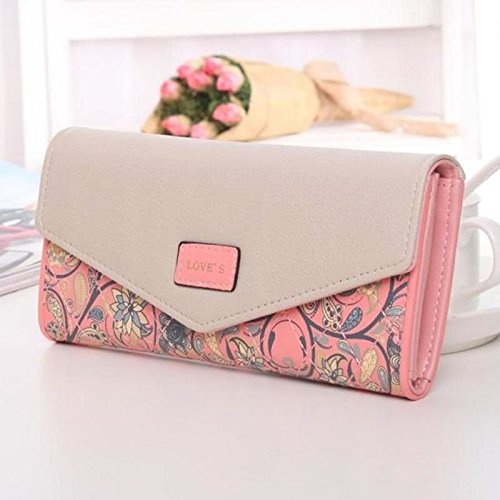 Women Lady Leather Clutch Envelope Wallet Long PU Card Holder Case Purse Handbag - Boss Hugo Junior