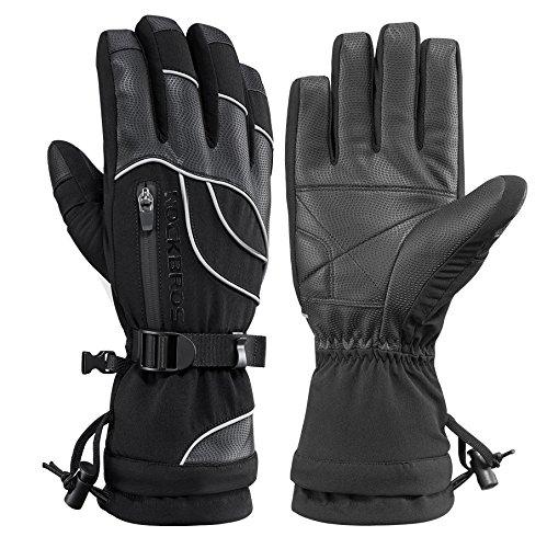 RockBros Waterproof Winter Ski Gloves Warm Snowboarding Snowmobile Men's Gloves Thermal Gear
