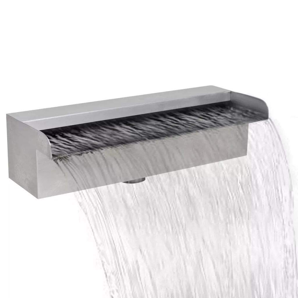 JBDSupply Rectangular Waterfall Pool Fountain Stainless Steel 11.8inch (41665)