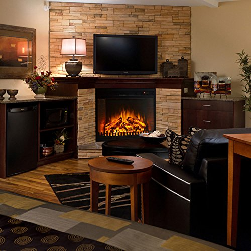 Gibson living room decor 26 curved ventless electric space heater built in recessed firebox - Very small space heater decor ...