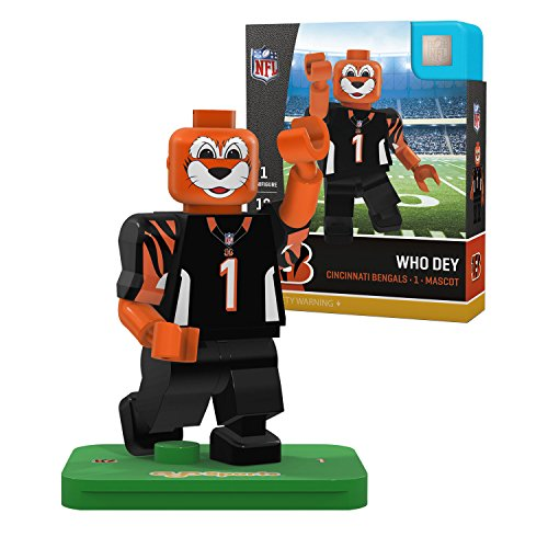 NFL Cincinnati Bengals Gen4 Limited Edition Who Dey The Mascot Mini Figure, Small, White (Bengals Nfl Uniform)