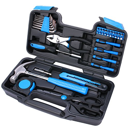 All Purpose Household Tool Kit – Includes All Essential Tools for Home, Garage, Office and College Dormitory Use (Basic Assembly)