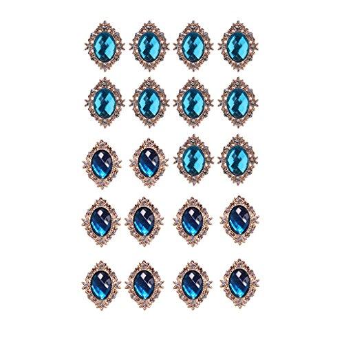 Homyl 20 Piezas Cabujones De Acrílico Joyería Botones De Cristal Para Tapicería Para Decorar Bolsas, Ropa Dark Geen \u0026...