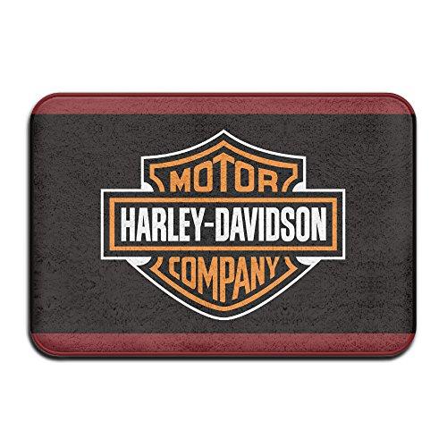 Kongpao Harley Davidson Logo Doormats / Entrance Rug Floor Mats - Harley Davidson Bathroom Rugs