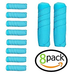 8 Pack Sleep Hair Rollers- Absorbent Sleep Hair Rollers Style Curling Apparatus,curling Drum,dry Hair Curler ,6 Inch Absorbent Heat Free Sleep Nighttime Styler Curlers