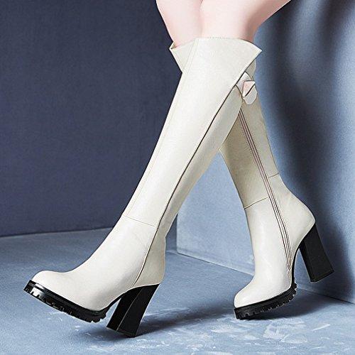 Occidentales Invierno Martin Altas Las Áspera Botas Los Plataforma Mujeres de de Alta Blanco Botas con Zapatos Impermeable 5w7w4xOq
