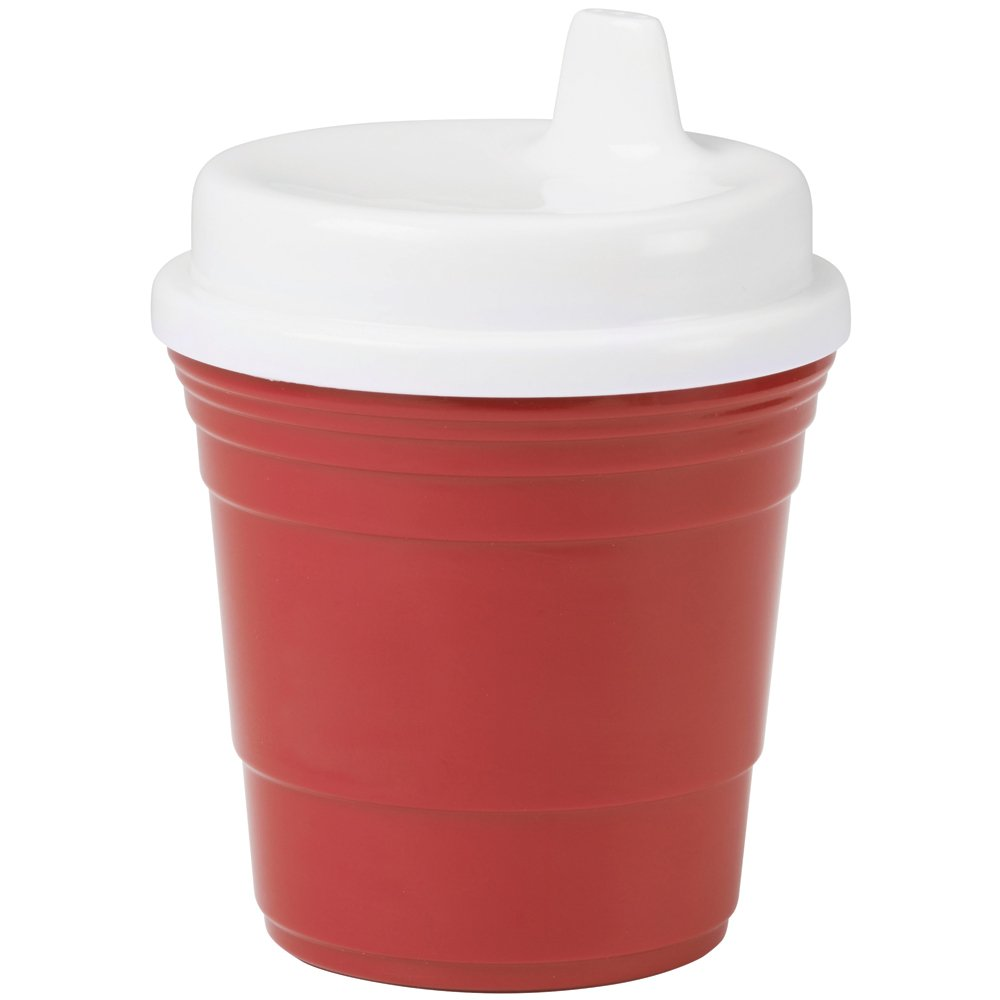 Durable Plastic 8 Oz. Red Solo Cup Baby Sippy Cup With Snug Spill Proof Lid by Red Cup Living   B00UMU6UZC